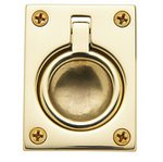 Baldwin 0394 1-7/8 Inch x 2-1/2 Inch Flush Ring Pull