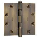 Baldwin 1046.I Estate 4.5 Inch x 4.5 Inch Solid Brass Ball Bearing Full Mortise Hinge with Square Corners (Sold Each)