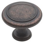 """Amerock BP1387RBZ Rustic Bronze 1 1/4"""" Knob from the Reflections Collection"""