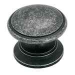 """Amerock BP1466WID Wrought Iron Dark 1 1/4"""" Knob from the Hint of Heritage Collection"""