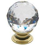 Baldwin 4336S 1-1/2 Inch Diameter Swarovski Crystal Cabinet Knob