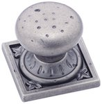 """Amerock BP4484WN Weathered Nickel 1 1/4"""" Knob from the Ambrosia Collection"""