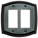 Baldwin 4797 Roped Edge Double GFCI Switch Plate