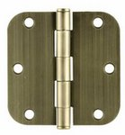 Emtek 91033 3-1/2 Inch x 3-1/2 Inch Residential Duty Steel Plated Hinge with 5/8 Inch Radius Corners (Sold in Pairs)