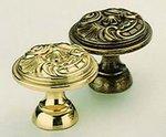 Omnia 9120/30 1-3/16 Inch Solid Brass Knob