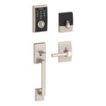 Schlage FE375 CEN/BRW RH Century Touch Screen Handleset with Broadway Lever for Right Handed Doors