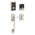 Schlage FE375 CEN/MER LH Century Touch Screen Handleset with Merano Lever for Left Handed Doors