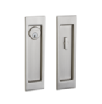 Baldwin PD005.ENTR Large Santa Monica Keyed Pocket Door Mortise Lock