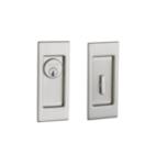 Baldwin PD006.ENTR Small Santa Monica Keyed Pocket Door Mortise Lock