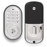 Yale Real Living YRD216ZW2 Assure Push Button Deadbolt with Z-Wave