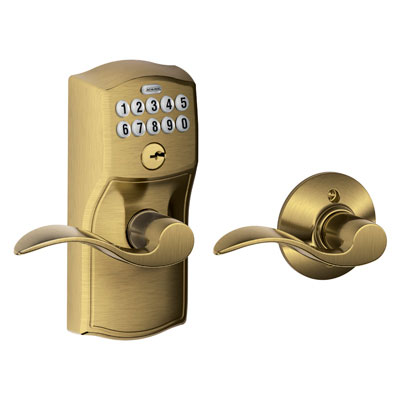Schlage Fe575 Cam Acc Camelot Keypad Auto Lock Entry